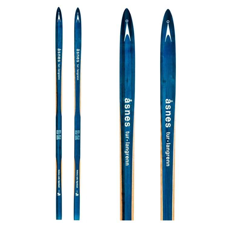 1970s Asnes Unmounted Vintage Cross Country Skis