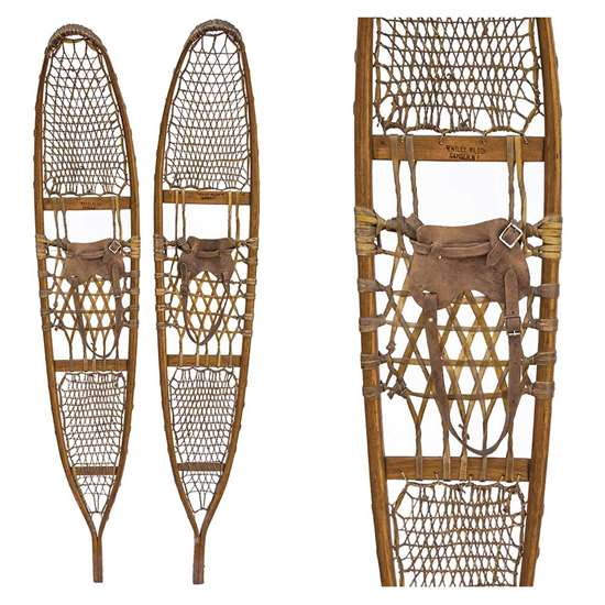 "1943 Bentley Wilson 10th Mountain Division Snowshoes, Size 10"" x 58"""
