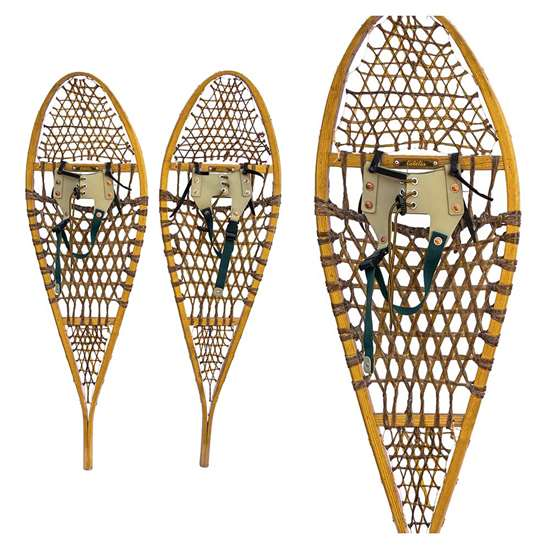 "1990s Cabela's Modern Wooden Snowshoes, Size 14"" x 48"""