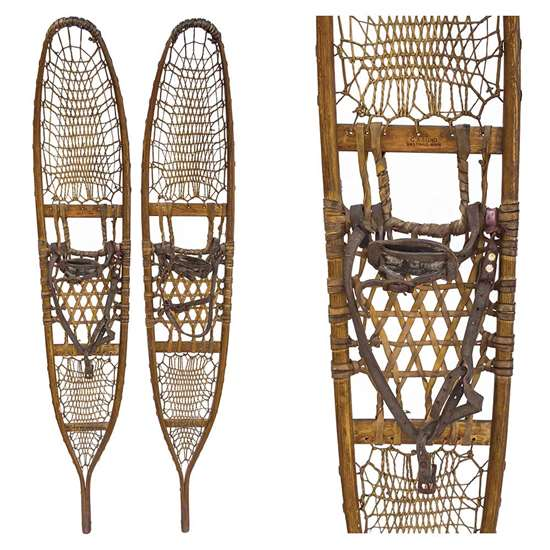 "1943 Lund 10th Mountain Division WWII Snowshoes, Size 10"" x 58"""