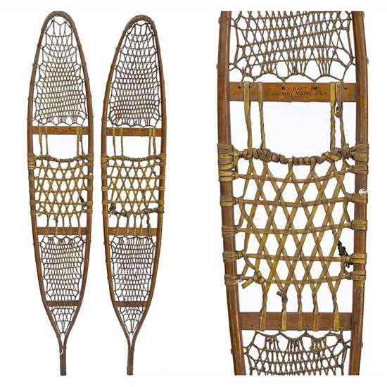 "1942 Snocraft 10th Mountain Division Snowshoes, Size 10"" x 58"""
