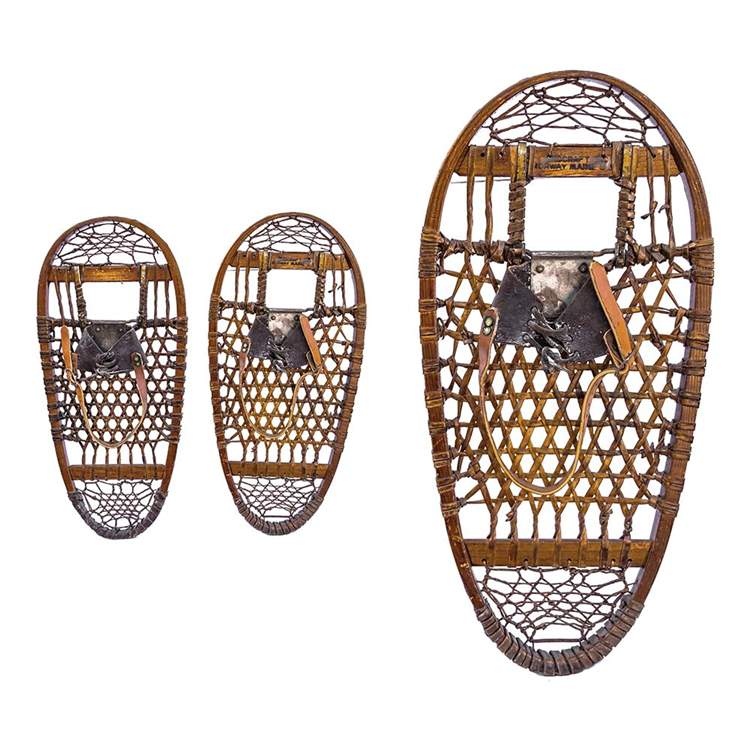 "1942 Snocraft 10th Mountain Division Vintage Bear Paw Snowshoes, Size 13"" x 28"""