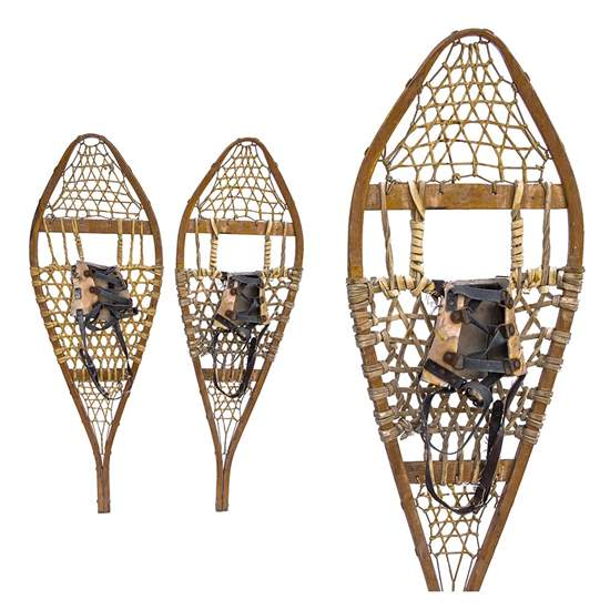 "1960s Torpedo Vintage Canadian Snowshoes, Size 14"" x 42"""
