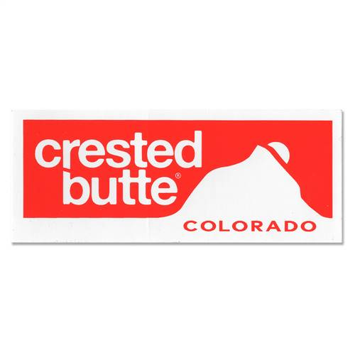 Crested Butte Ski Resort Sticker for Helmets, Skis and Snowboards