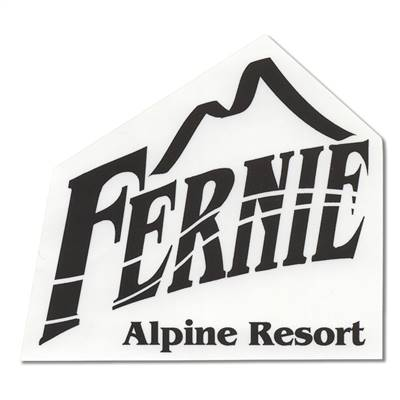 Fernie, British Columbia Sticker for Skis, Snowboards and Helmets