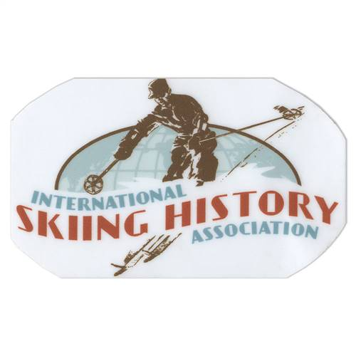 International Skiing History Association Ski Helmet Sticker