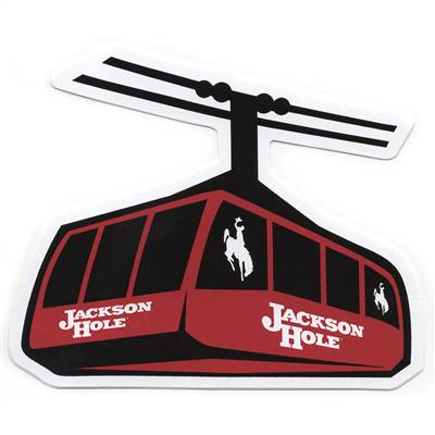 Jackson Hole Rendezvous Mountain Tram Sticker for Skis, Snowboards and Helmets