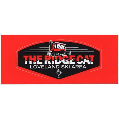 Loveland Ridge Cat Ski Sticker for Skis and Snowboards