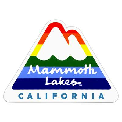 Mammoth Lakes, California Ski Town Sticker for Skis, Snowboards and Helmets