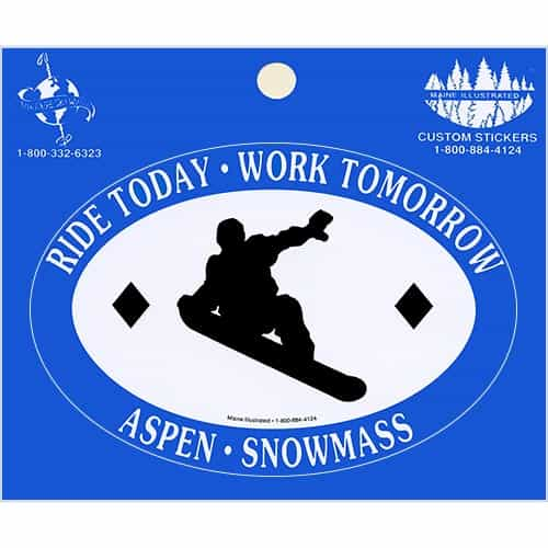 Ride Today Aspen Snowmass Blue Sticker