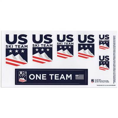 U.S. Ski Team Sticker Set of 7 Ski Helmet Stickers