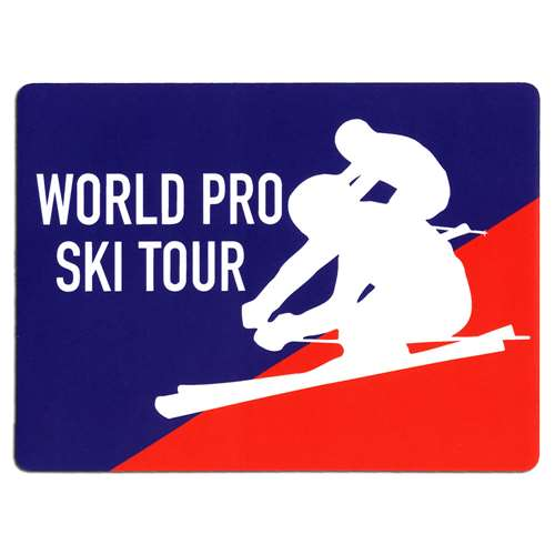 World Pro Ski Tour Sticker for Ski Helmet, Skis or Snowboard