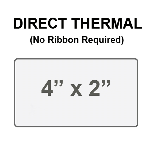 avery 909931 4 rolls direct thermal label