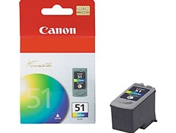 Canon CL-51 Genuine Tri-Color Ink Cartridge 0618B002