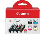 Canon CLI-221 Genuine Ink Cartridge Combo