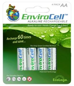 Rechargeable Alkaline Batteries >> Envirocell Aa 4 Pack Rechargeable Alkaline Batteries