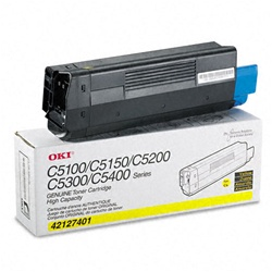 Okidata 42127401 Genuine Yellow Toner Cartridge Type C6