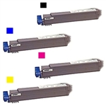 Okidata C9600/ C9800 4-Pack Toner Cartridge Combo