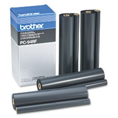 Brother PC-94Rf 4-Pack Genuine Thermal Fax Ribbon Refill Rolls PC94RF