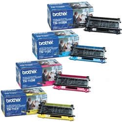 Brother TN115 4-Pack Genuine Toner Combo
