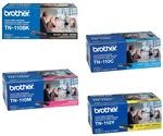 Brother TN110 4-Pack Genuine Toner Combo