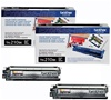 Brother TN210BK 2-Pack Genuine Black Toner Cartridge Combo