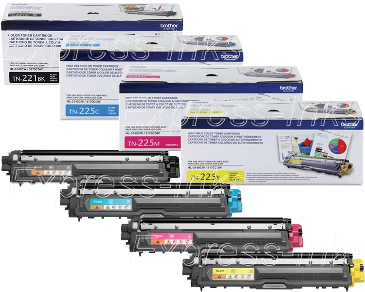MFC-9340CDW 8 Pk TN221 BK TN225 Color Toner For Brother MFC-9130CW MFC-9330CDW