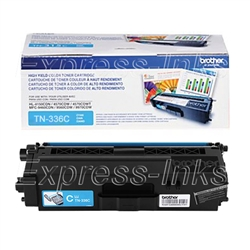 Brother TN336C Genuine OEM Cyan Toner Cartridge