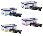 Brother TN433 4-Pack Genuine Toner Cartridge Combo