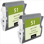 Brother LC51BK2PK 2-Pack Ink Cartridge Combo