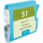 Brother LC51C Cyan Inkjet Cartridge