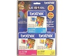 Brother LC51CL3PK Genuine Ink Cartridge Combo