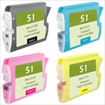 Brother LC51 4-Pack Premium Compatible Ink Combo