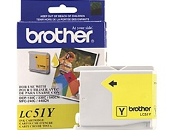 Brother LC51Y Genuine Yellow Ink Cartridge