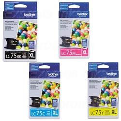 Brother LC75 4-Pack Genuine Ink Cartridge Combo