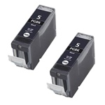 Canon PGI-5BK 2-Pack Black Inkjet Ink Cartridge Combo 0628B002