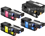 Dell C1660W 4Pk Compatible Toner Cartridge Combo