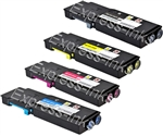 Dell 4-Pack C2660DN/C2665DNF Compatible Toner Cartridge Combo