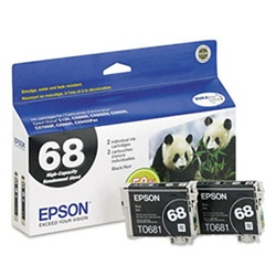 Epson T068120-D1 Genuine Black Ink Cartridges
