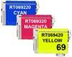 Epson T069520 3-Pack Compatible Ink Combo #69