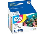 Epson (#69) T069520 Genuine Color Ink Cartridges