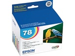 Epson #78 Genuine 5-Pack Inkjet Ink Cartridge Combo T078920