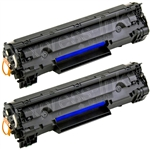 HP CB436AD 2-Pack CB436A Toner Cartridge Combo