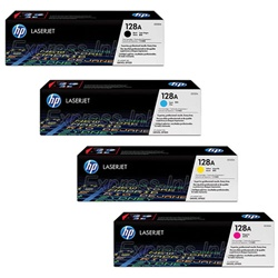 HP CM1415FN Genuine 128A Toner Cartridge Combo