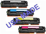 USA Made Compatible HP CE410X, CE411A-3A Toner