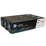 HP CF341A 3-Pack Genuine Color Toner Cartridge Combo