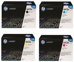HP Q5950A, Q5951A, Q5952A, Q5953A Genuine Toner Cartridge Combo