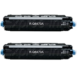 HP Q6470A 2-Pack Toner Cartridge Combo Q6470AD