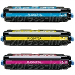 HP Color Laserjet 3600 3-Pack Toner Cartridge Combo