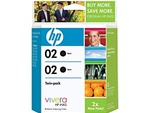 HP #02 2-Pack Genuine Black Ink Combo C9500BN